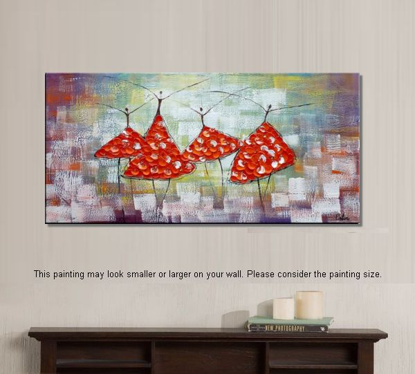 Canvas Wall Art, Original Paintnig, Modern Art, Bedroom Wall Art, Abstract Art, Large Art, Abstract Painting, Ballet Dancer Painting