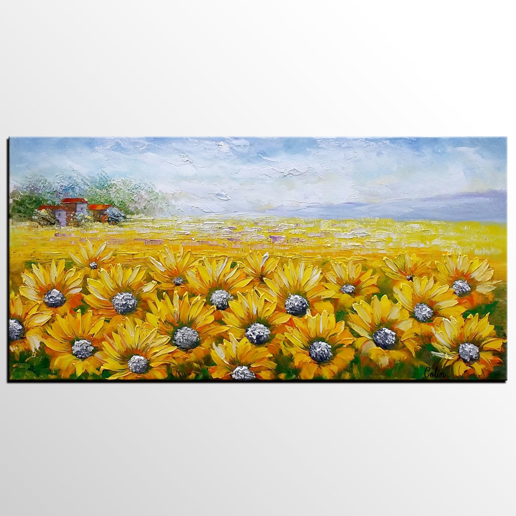 Large Wall Art, Heavy Texture Art, Canvas Painting, Landscape ...