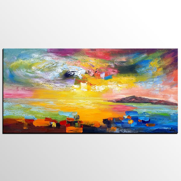 Wall Art, Contemporary Art, Abstract Landscape Art, Canvas Wall Art, Abstract Art, Large Art, Abstract Painting - artworkcanvas