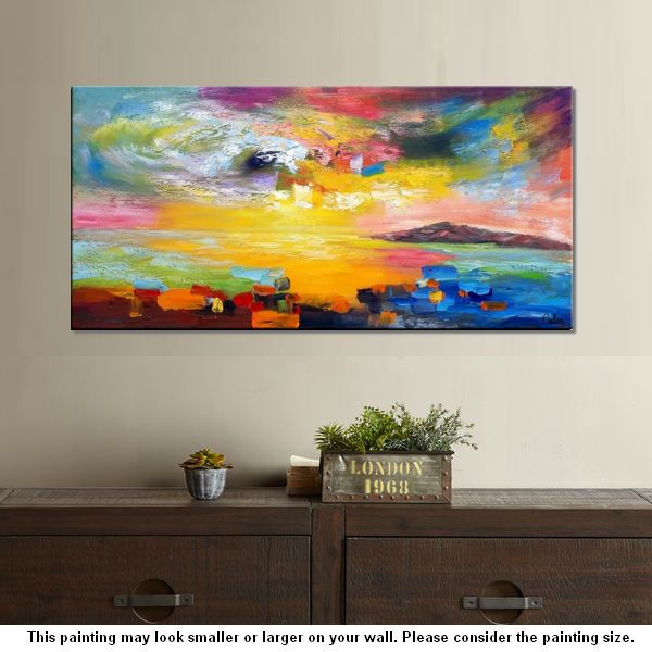 Wall Art, Contemporary Art, Abstract Landscape Art, Canvas Wall Art ...