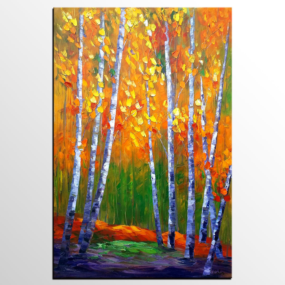 Original Painting, Abstract Art, Autumn Tree Painting ...