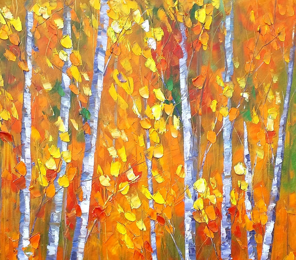 Original Painting, Abstract Art, Autumn Tree Painting, Landscape Painting, Wall Art, Oil Painting, Canvas Art, Large Art, Abstract Painting