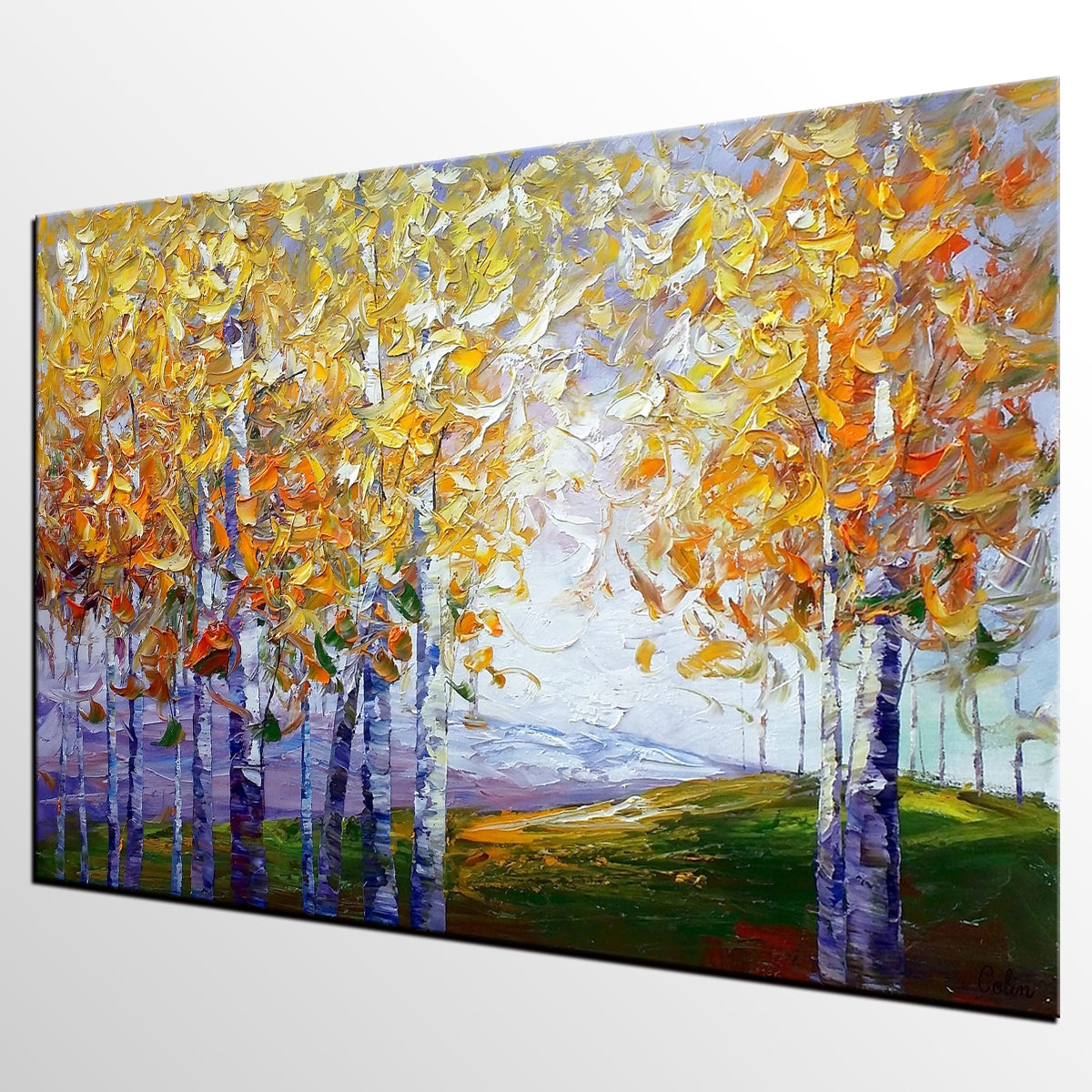 Autumn Tree Painting, Large Wall Art, Heavy Texture Art, Canvas Wall Art, Abstract Art, Large Art, Abstract Painting, Original Painting