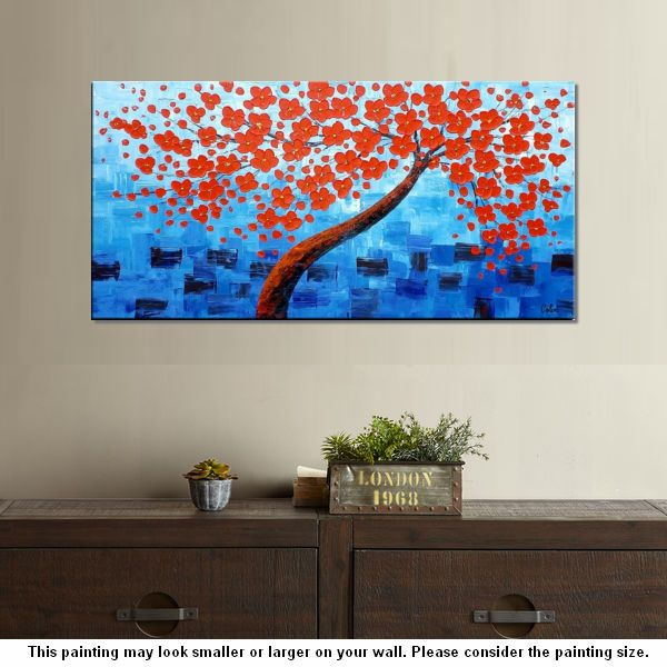 Acrylic Painting, Abstract Painting, Tree Painting, Flower Tree ...