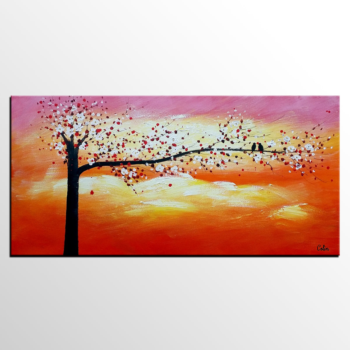 Abstract Art, Love Birds Painting, Wall Painting, Abstract Painting for Sale