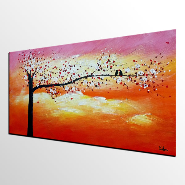 Abstract Art, Love Birds Painting, Wall Painting, Abstract Painting for Sale-artworkcanvas