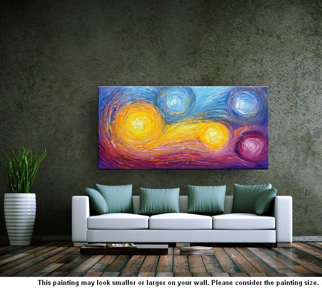 Heavy Texture Painting, Abstract Art, Oil Painting, Abstract Painting, Large Art, Canvas Art, Wall Art, Canvas Painting, Bedroom Wall Decor - artworkcanvas