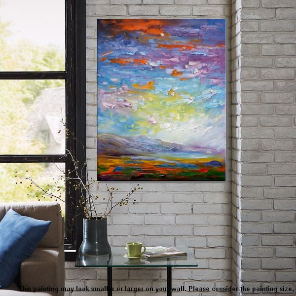 Modern Oil Painting, Abstract Painting, Abstract Landscape Painting