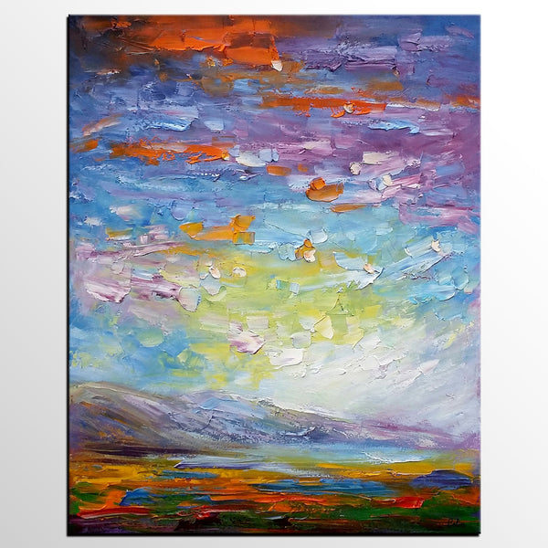 Modern Oil Painting, Abstract Painting, Abstract Landscape Painting - artworkcanvas