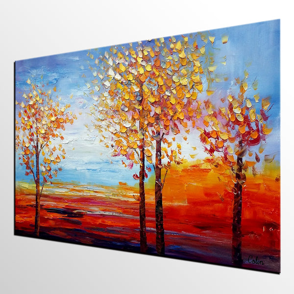 Oil Painting for Sale, Landscape Painting, Dining Room Wall Decor, Abstract Painting, Large Art, Canvas Art, Wall Art, Canvas Painting