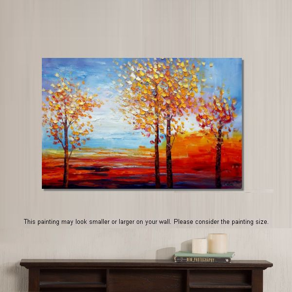 Oil Painting for Sale, Landscape Painting, Dining Room Wall Decor, Abstract Painting, Large Art, Canvas Art, Wall Art, Canvas Painting - artworkcanvas