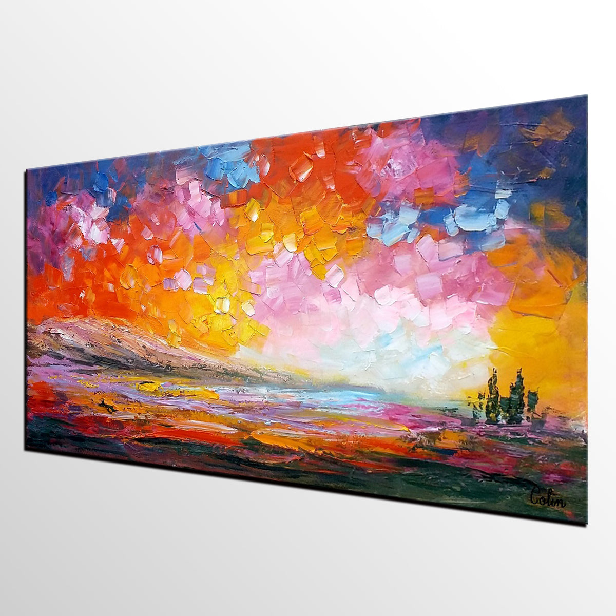 Modern Painting, Abstract Landscape Art, Original Oil Painting, Abstract Painting, Large Art, Canvas Art, Wall Art, Canvas Painting, Painting for Sale