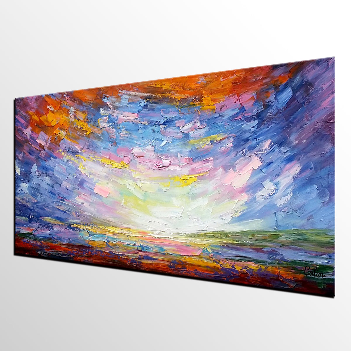 Original Oil Painting, Modern Painting, Abstract Landscape Art, Abstract Painting, Large Art, Canvas Art, Painting for Sale