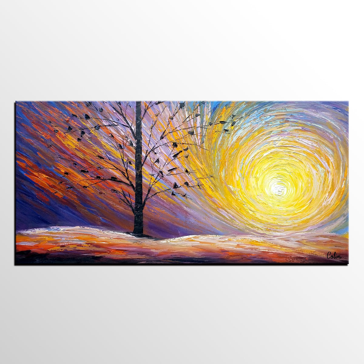 Original Oil Painting, Modern Painting, Landscape Art, Painting for Sale - artworkcanvas