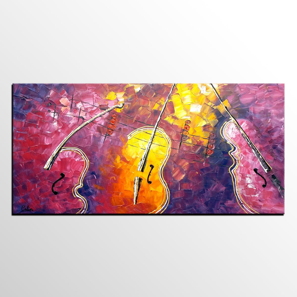 Canvas Painting, Violin Painting, Abstract ...