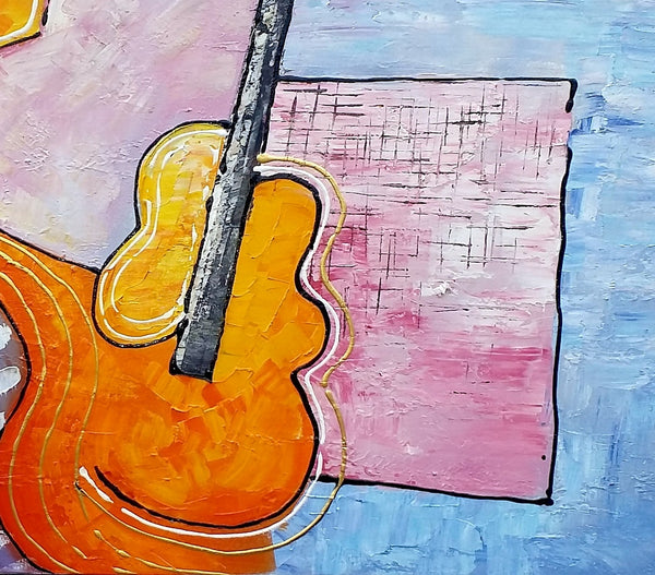 Violin Painting, Abstract Art, Canvas Painting, Oil Painting, Abstract Painting, Large Art, Canvas Art, Wall Art, Art Painting, Impasto Art - artworkcanvas