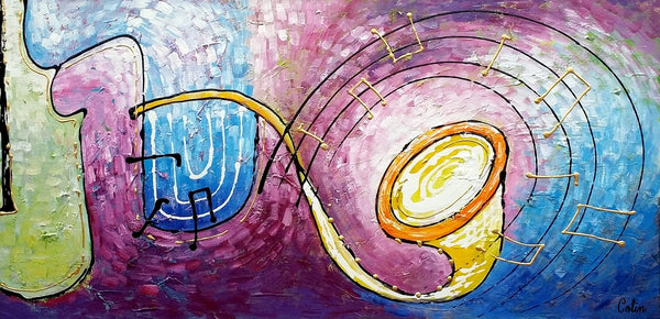 Music Painting, Abstract Art, Bedroom Wall Art, Art Painting, Canvas Art, Oil Painting, Abstract Painting, Large Art, Canvas Painting