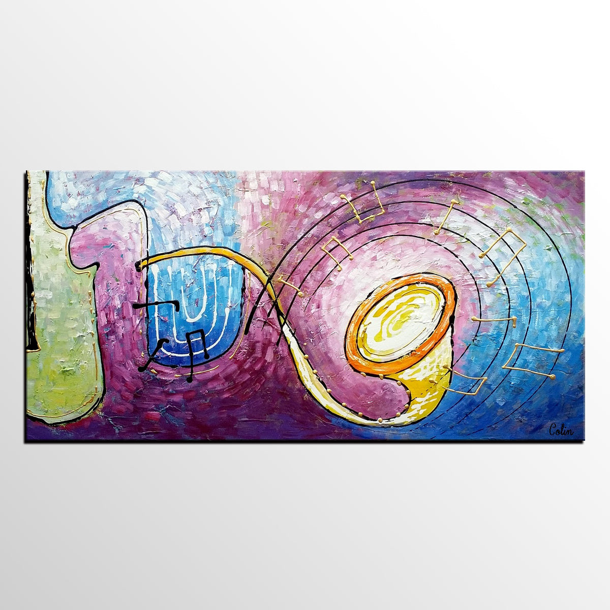 Music Painting, Abstract Art, Bedroom Wall Art, Art Painting, Canvas Art, Oil Painting, Abstract Painting, Large Art, Canvas Painting - artworkcanvas