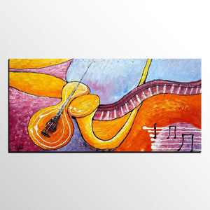 Modern Art, Canvas Painting, Large Painting, Bedroom Wall Art, Violin Music Painting, Abstract Art, Canvas Art, Original Painting, Abstract Painting - artworkcanvas