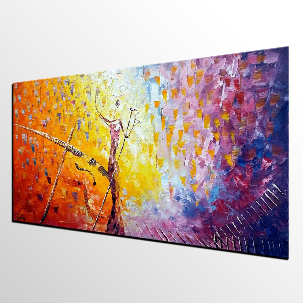 Impasto Art, Abstract Painting, Pop Singer Painting, Bar Wall Art, Canvas Painting for Sale