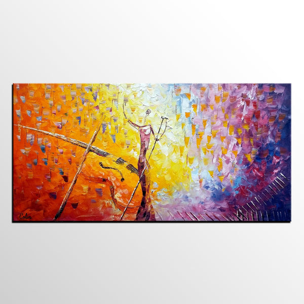 Impasto Art, Abstract Painting, Pop Singer Painting, Bar Wall Art, Canvas Painting for Sale - artworkcanvas