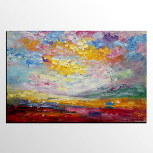 Original Oil Painting, Abstract Painting, Large Art, Canvas Art - artworkcanvas