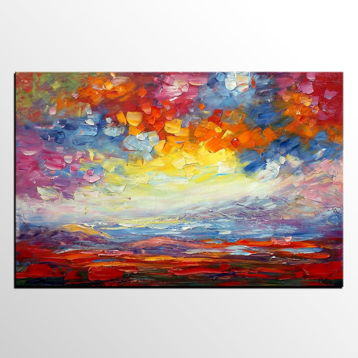 Heavy Texture Art, Abstract Landscape Painting, Oil Painting, Abstract Art, Abstract Painting, Canvas Art, Living Room Wall Art, Canvas Painting - artworkcanvas