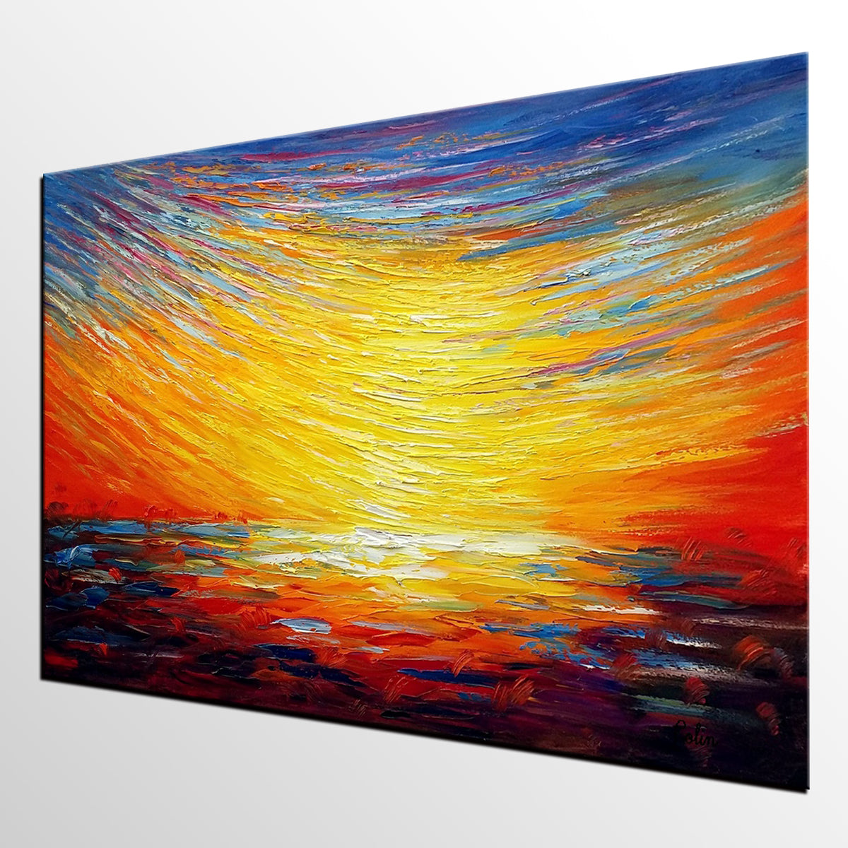 Oil Painting for Sale, Original Abstract Painting, Wall Art, Canvas Painting