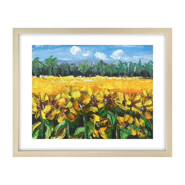 Heavy Texture Oil Painting, Small Painting, Sunflower Painting, Abstract Painting - artworkcanvas