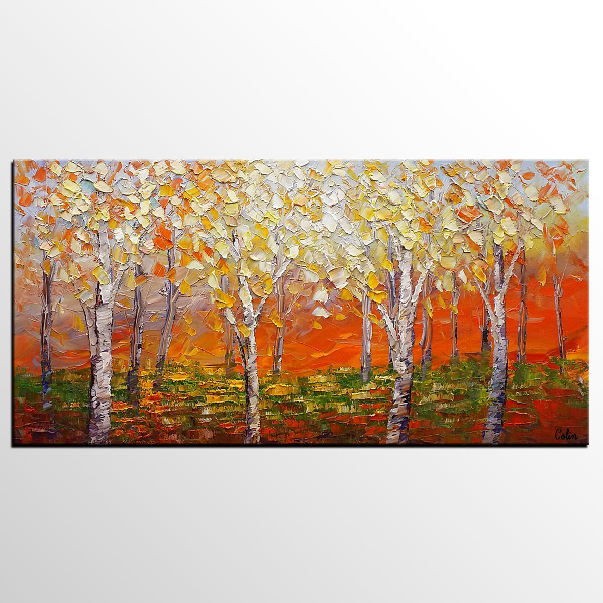 Landscape Painting, Large Art, Canvas Painting, Modern Wall Art, Canvas Art, Wall Art, Original Artwork, Abstract Painting, Modern Art, Tree Painting