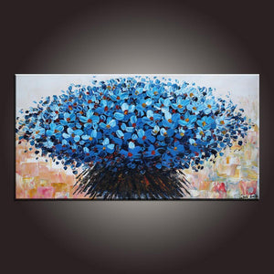 Modern Art, Flower Painting, Art on Canvas, Contemporary Art, Abstract Art Painting, Canvas Wall Art, Dining Room Wall Art, Canvas Art - artworkcanvas