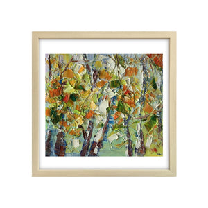 Heavy Texture Oil Painting, Autumn Tree Painting, Small Oil Painting, Abstract Painting