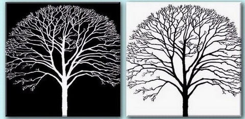 Tree Painting, Black and White Art, Abstract Art, Abstract Painting, Wall Art, Wall Hanging, Dining Room Wall Art, Modern Art, Hand Painted Art - artworkcanvas