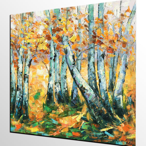 Landscape Painting, Oil Painting, Autumn Tree Painting, Abstract Painting, Custom Canvas Painting - artworkcanvas
