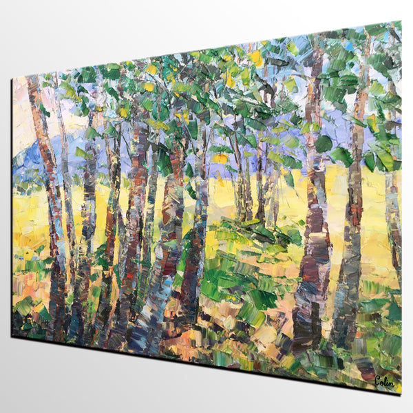 Landscape Painting, Large Canvas Painting, Bedroom Wall Art, Canvas Art, Wall Art, Original Artwork, Abstract Painting, Modern Art, Tree Painting - artworkcanvas