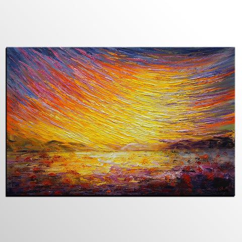 Abstract Landscape Painting, Custom Abstract Artwork, Canvas Painting, Modern Art Painting - artworkcanvas