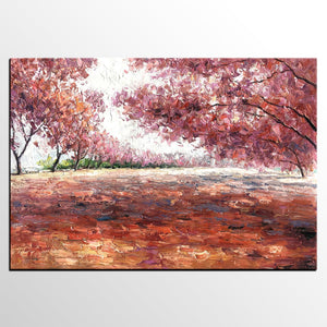 Landscape Painting, Canvas Painting, Modern Art, Oil Painting, Autumn Forest Painting - artworkcanvas