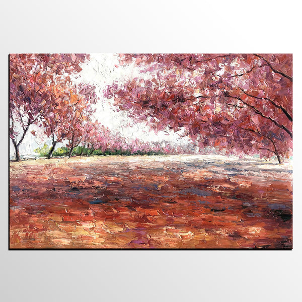 Landscape Painting, Canvas Painting, Modern Art, Oil Painting, Autumn Forest Painting-artworkcanvas