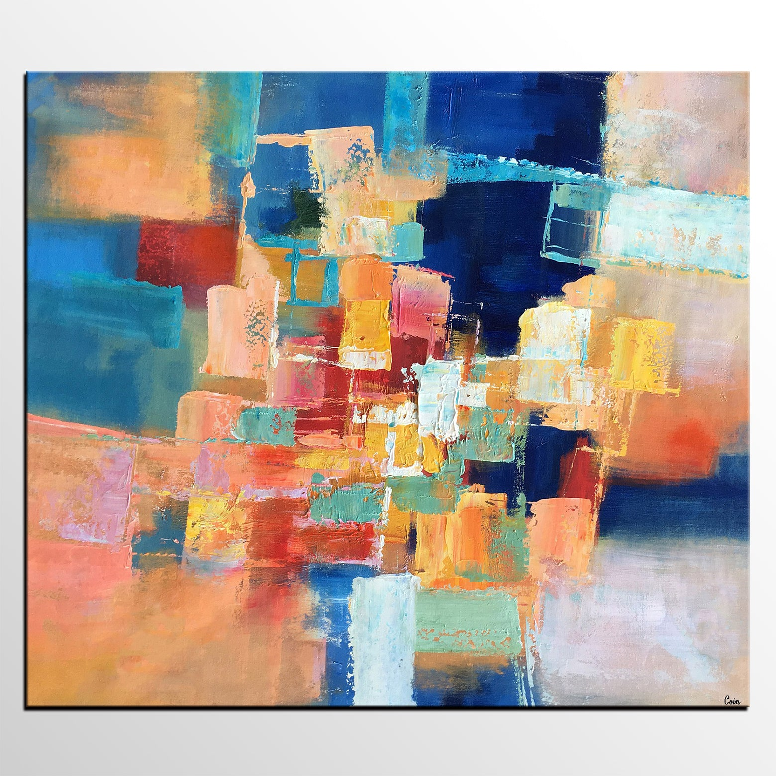 Oil Painting, Abstract Painting, Modern Art, Canvas Art, Bedroom Wall Art, Canvas Painting, Colorful Sky Painting, Landscape Painting-artworkcanvas