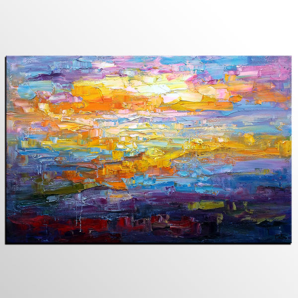 Abstract Art Painting, Custom Original Wall Art, Large Canvas Painting, Contemporary Artwork - artworkcanvas