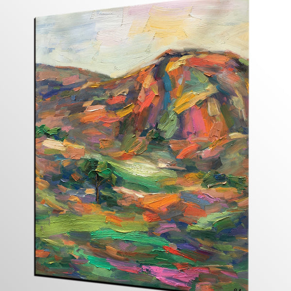 Abstract Art Painting, Landscape Oil Painting, Original Painting, Autumn Mountain Painting