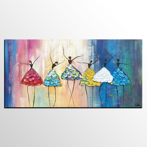 Abstract Art, Ballet Dancer Painting, Dancing Painting, Heavy Texture Art, Custom Extra Large Painting - artworkcanvas