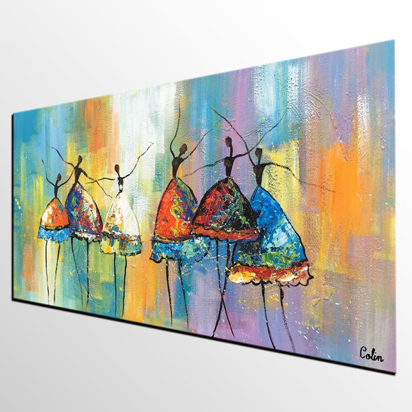 Abstract Art, Canvas Painting, Ballet Dancer Painting, Original Artwork, Custom Abstract Painting - artworkcanvas
