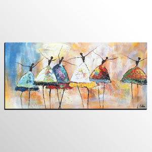 Canvas Art, Ballet Dancer Wall Art, Abstract Painting, Large Wall Art, Custom Abstract Artwork - artworkcanvas