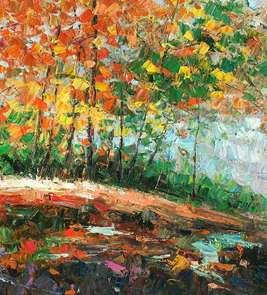 Abstract Landscape Art, Autumn Tree Painting, Large Painting, Bedroom Canvas Art, Buy Art Online - artworkcanvas