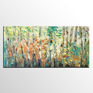 Abstract Painting, Autumn Tree Painting, Original Painting, Custom Extra Large Painting