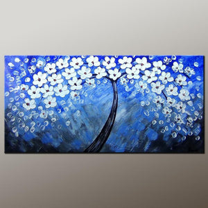 Flower Art, Acrylic Painting, Heavy Texture Painting, Abstract Art Painting, Canvas Wall Art, Bedroom Wall Art, Canvas Art, Modern Art, Contemporary Art