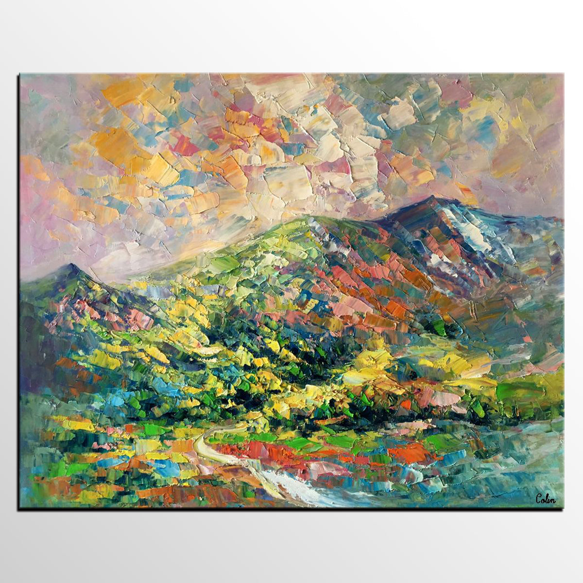 Abstract Art Painting Landscape Painting Oil Painting Abstract Art Original Artwork Canvas Painting