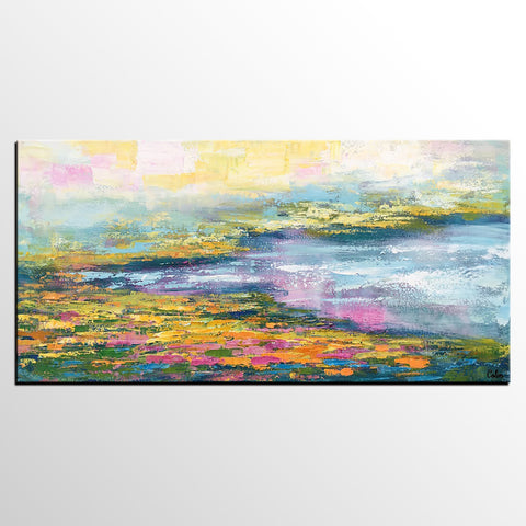 Abstract Landscape Art, Abstract Painting for Sale, Large Canvas Art, Acrylic Painting - artworkcanvas