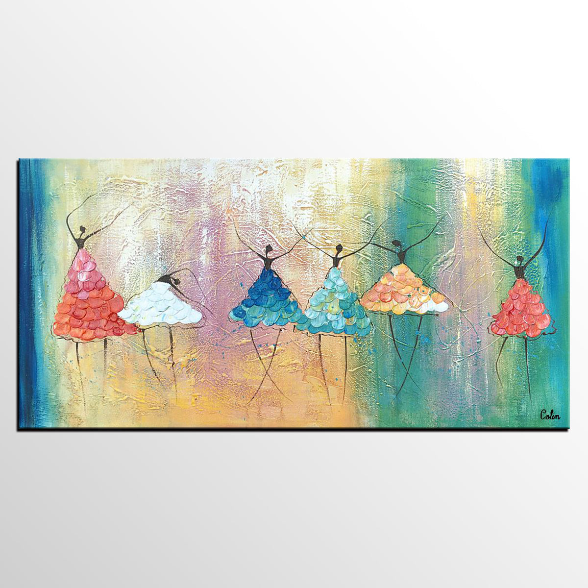 Wall Art, Ballet Dancer Painting, Abstract Art, Large Painting, Custom Canvas Painting, Wall Art, Canvas Art, Abstract Painting-artworkcanvas